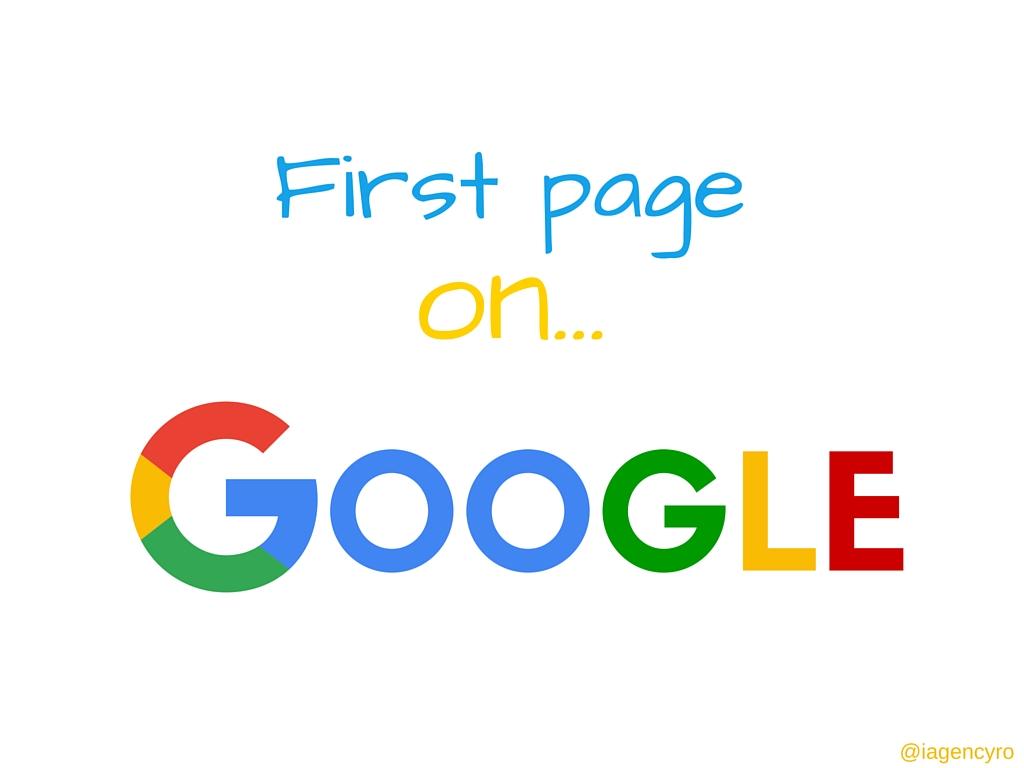 prima pagina de google